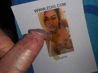 After the video, I couldn\'t resist Ms. Joynoi\'s invitation to show her how my hot cum load looks splashed on her face and tits  >:)