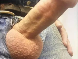 Hard cock and tight balls ready to play