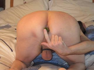 Can I suck your balls then your cock while you play?