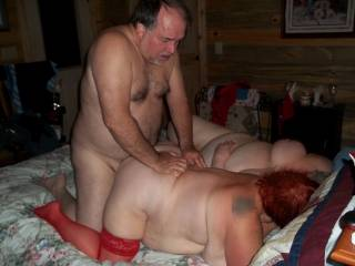 another view, Kitten being fucked doggy, Donna next to her.