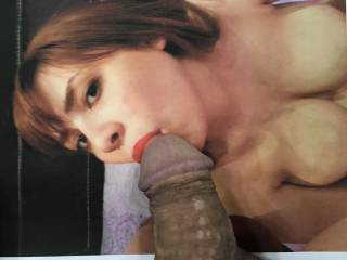 """Her partner\'s caption says """"she is professional in sucking"""". With those enchanting eyes and full, soft lips, he gets no argument from me. Sexydareen is indeed a very talented young lady."""