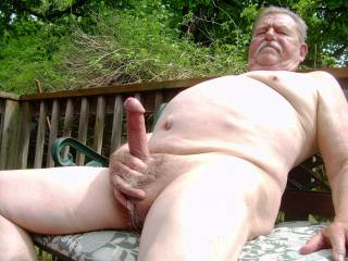 Outdoors naked getting horny.