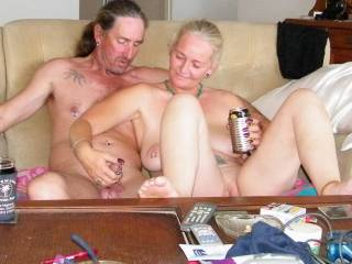 hubby and me having fun together