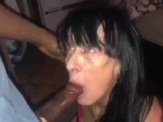 My naughty granny invited me over for a blowjob to which I obliged