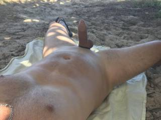 Was super horny at the beach. I wish someone was there to help me