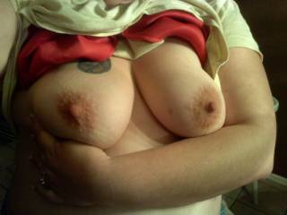my wifes tits. what do u think?