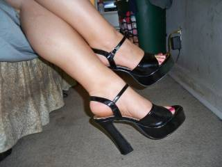 mmmm, love those curvy calves in those heels...would laso love to see you in some sheer stockings..the soft nylon clinging to those gorgeous curves!!!