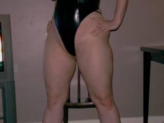 me in black pvc