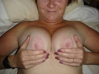 Love to have you squeeze your lovely tits around my cock.