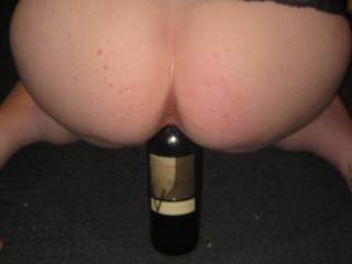 taking a wine bottle cause i can