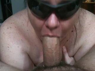 She sucked me until I blew my load down her throat, Watch her gag when it hits her throat..