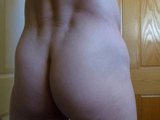 My flip side.  My tight little butt awaiting a woman's caress and maybe a tender bite.