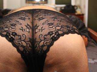 Wow!!! Hot sexy ass and sexy lace panties.  So hot. amazingly sexy
