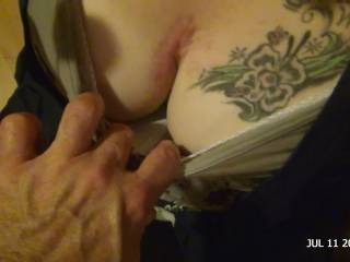 My girls big boobs; TightLibra