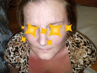 A good wife gets rewarded with a big facial! Wife LOVES facials! Any other ladies love them? She loves comments!