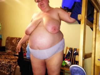 my wife saggy tits,big belly