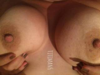 I want lots of cock in my tits