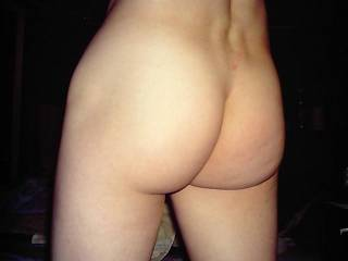 Nice ass...how would you like my hairy pussy rubbing up against it while I reach around and pull on your cock.  K