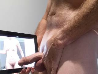 Tribute for Mrs FloridaMan. Does my semi hard cock look good ?