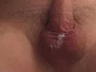 Post sex... when you leave your cum on hubbys cock... ☺️