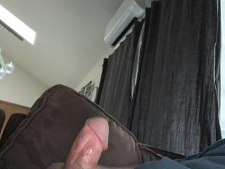Rubbing one out on the couch