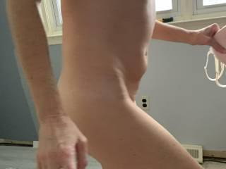 Wife walking away to shower after being fucked.