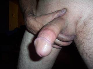 Who wants some of my mans BIG cock??  He is ready for a wet pussy!