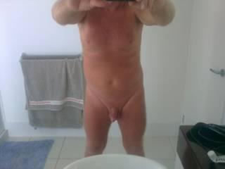 you are a georgeous hunk, adore your smooth chest and shaved pubic area. Adore your circumcised cock, mmm delicious