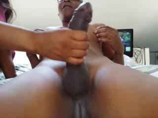 mmmmmmmmmmmmmmm Now that is a Nice HOT Cock. I wouldn't mind having her play w/ my BIG Hot Cock either,