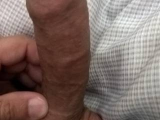 My cock with foreskin not pulled down