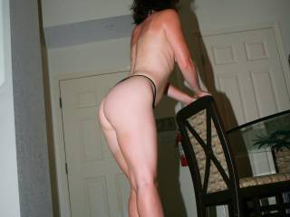 Bare ass and thong