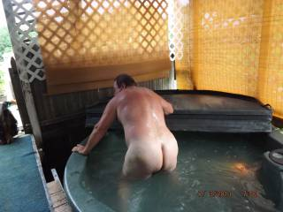 my big ass getting out of hottub