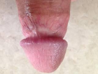Please lick under my cock head. Fucking unreal sensations !!