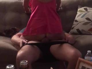 Wife riding a hard dick