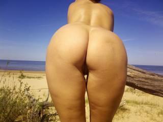 Last summer at Inčupe nudist beach.