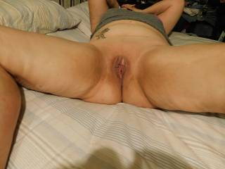 I was horny and playing with my pussy while waiting for my husband and girl friend to cum play with me . more the better would like to join in also ?