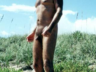 Mr. Floridaman enjoying one of his first visits to a nude beach.  From Mrs. Floridaman