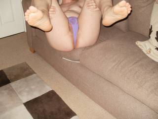 legs up and wide in panties