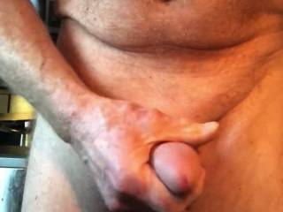 Jerking off with a cock and balls sleeve on. Feels wonderful.