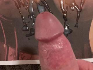 Spicycplatplay's tits look even more amazing with my cum on them