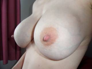 Here\'s a close up of my tits for those who requsted ;) Makes an excellent cum target. I\'ll message back the first person to post a cum on pick and send it to me ;) xx