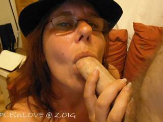 OMG!!!! Hubby is so lucky! You are so sexy and suck cock like no other. I came masturbating just dreaming of my cock being in your hot wet sexy mouth and looking into your sexy blue eyes!!!!