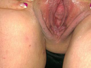 BOTH !!! let me give them a good tongue fucking then I will fill them with this thick, hard throbbing cock