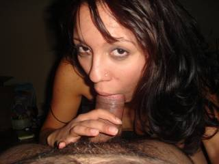 watching this girl swallow my cock