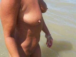 Great nipples..wife and I would love to suck on them.