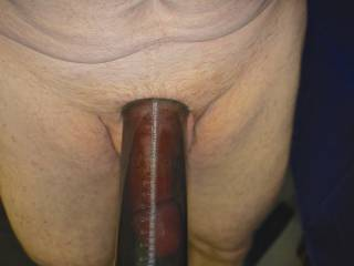 pumping me cock for play time