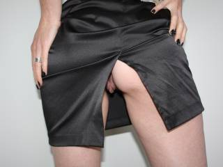 Didn't wear panties to work today.  I think one of the men in the office caught a quick glimpse.  He was in his office with the door closed for awhile after that. Wonder what he was doing in there??