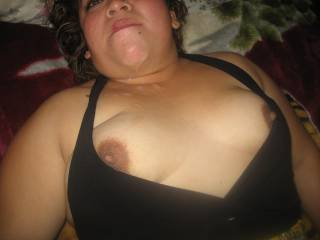 my wife with her tits full of cum
