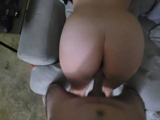 Got pretty hot while watching porn. Couldn\'t resist hitting that big ass from the back