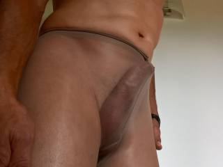 Horny in pantyhose...